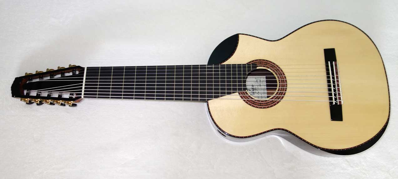 New New Milagro Master 10 Classical 10-String Harp Guitar w/sound port, arm rest bevel, and biteaway!!
