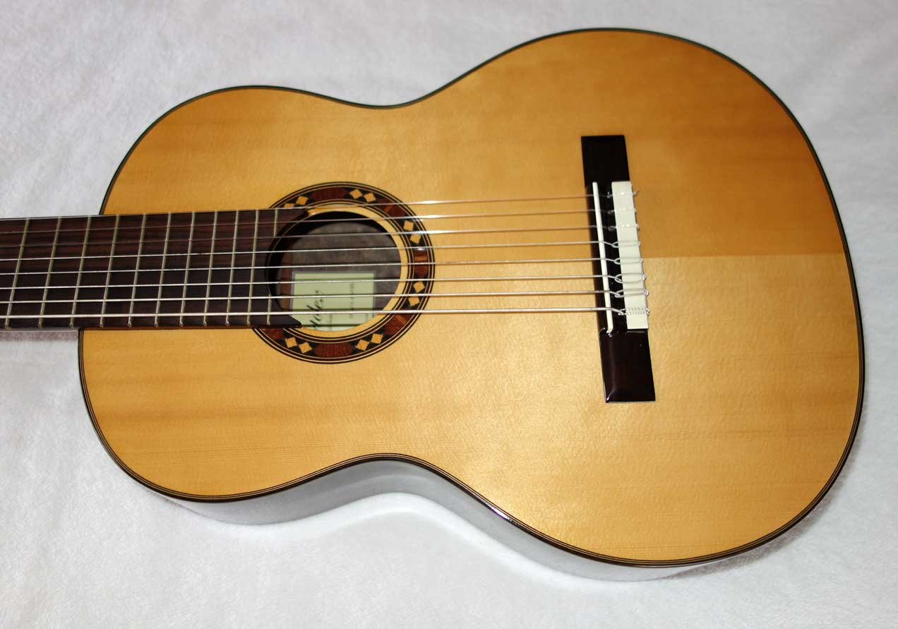 Bartolex SRS8 Classical 8-String Harp Guitar Solid Spruce Top, w/Hardshell Case