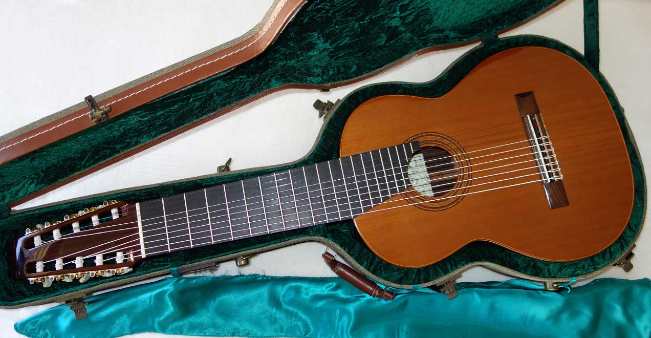 2013 Milagro MRS10 Concert 10-String Classical Harp Guitar, All-Solid Woods Cedar/Rosewood w/Case!!!