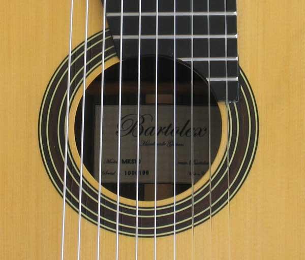 BARTOLEX MRS10 Spruce / Indian Rosewood 10-String Classical Harp Guitar