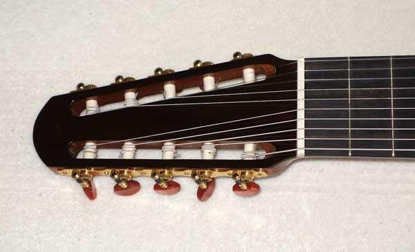 NEW Bartolex SLC10CEL 10-String Classical Harp Guitar w/Case, [Cutaway / Fishman Presys Pickup]
