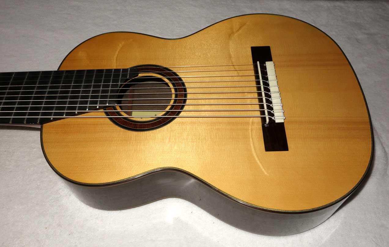 NEW Bartolex SLS10 10-String Classical Harp Guitar w/Hardshell Case