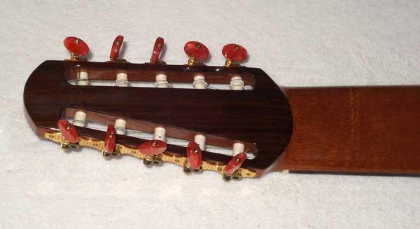Bartolex SLS10CEL Classical 10-String Harp Guitar w/Cutaway, Fishman Pickup, Hardshell Case, Spruce Top