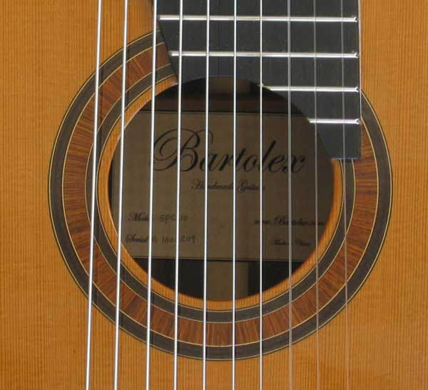 NEW Bartolex SPC10 10-String Classical Harp Guitar [Cedar/Indian Rosewood] w/Sound Port