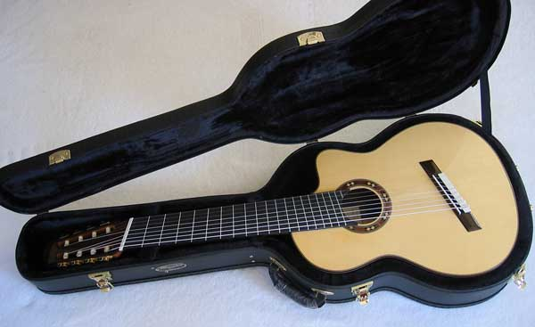 ing Classical Harp Guitar, Spruce Top, Spund Port, Fishman Presys PU + Case