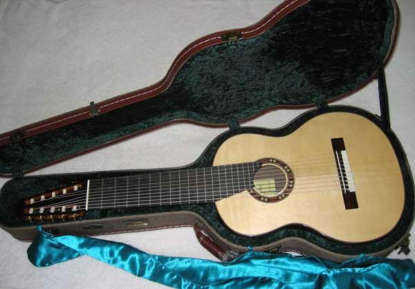 BARTOLEX SRC10 10-String Classical Harp Guitar, Cedar Top, w/ Hardshell Case