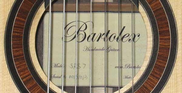 Bartolex SRS7 7-String Classical Harp Guitar NEW